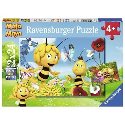 Ravensburger-07823 2 Puzzles - Maya L'Abeille