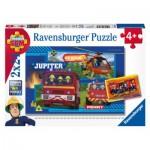Ravensburger-07826 2 Puzzles - Sam le Pompier