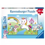 Ravensburger-07828 2 Puzzles - Fabuleuse Licorne