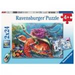 Ravensburger-07834 2 Puzzles - Les Aventures des Sirènes