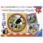 Ravensburger-08000 3 Puzzles - Yakari