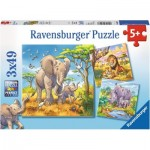 Ravensburger-08003 3 Puzzles - Animaux Géant Sauvage
