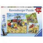 Ravensburger-08012 3 Puzzles - Grossses Machiness