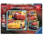 Ravensburger-08015 3 Puzzles - Cars 3