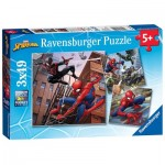 Ravensburger-08025 3 Puzzles - Spider-Man