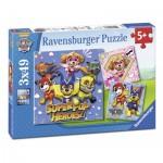 Ravensburger-08036 3 Puzzles - Pat' Patrouille