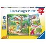 Ravensburger-08051 3 Puzzles - Contes et Légendes