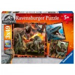Ravensburger-08054 3 Puzzles - Jurassic World