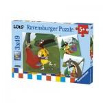 Ravensburger-08057 3 Puzzles - Loup