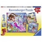 Ravensburger-08063 3 Puzzles - Sirènes