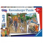 Ravensburger-08066 3 Puzzles - TKKG