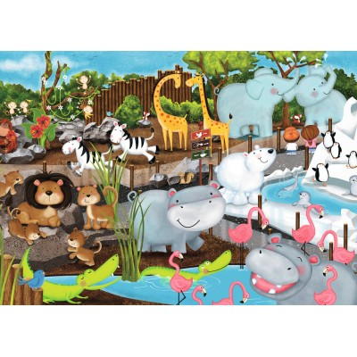 Ravensburger-08778 Journée au Zoo