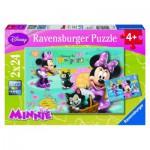 Ravensburger-08862 2 Puzzles - Minnie Mouse