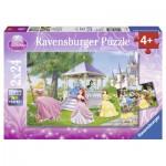 Ravensburger-08865 2 Puzzles - Princesses Magiques