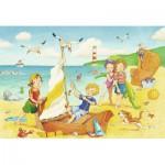 Ravensburger-08880 2 Puzzles - Enfants à la Plage
