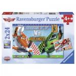 Ravensburger-09052 2 Puzzles - Planes : Dusty l'aviateur courageux