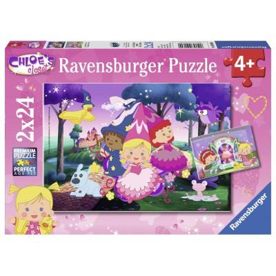 Ravensburger-09060 2 Puzzles - Chloé