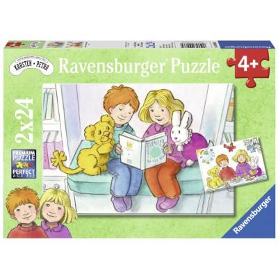 Ravensburger-09066 2 Puzzles - Karsten et Petra