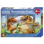 Ravensburger-09079 2 Puzzles - The Good Dinosaure
