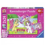 Ravensburger-09114 2 Puzzles - Filly Butterfly