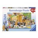 Ravensburger-09192 2 Puzzles - Camions Poubelles
