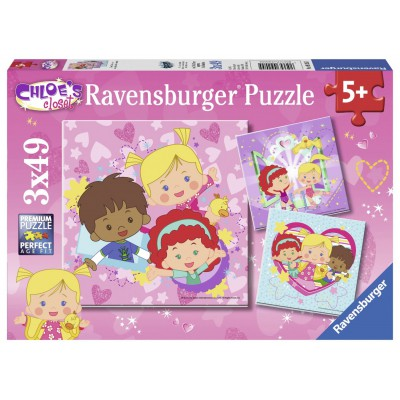 Ravensburger-09205 2 Puzzles - Chloé
