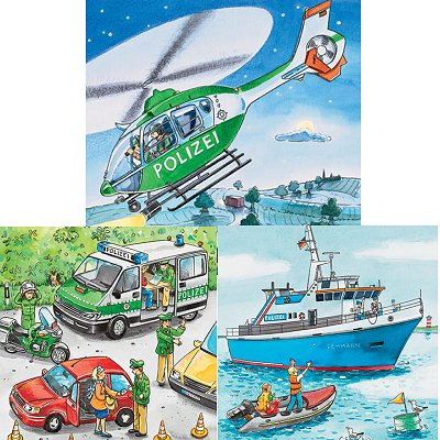 Ravensburger-09221 3 Puzzles - Forces de Police