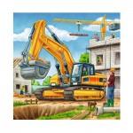 Ravensburger-09226 3 Puzzles - Gros Véhicules de Construction
