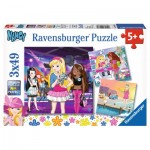 Ravensburger-09236 3 Puzzles - Nancy