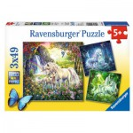 Ravensburger-09291 3 Puzzles - Magnifiques Licornes