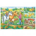 Ravensburger-09293 3 Puzzles - Animaux de la ferme