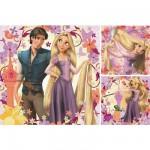 Ravensburger-09298 Puzzle 3 x 49 Pièces - Princesse Raiponce et Flynn Rider