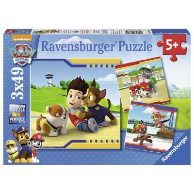 Ravensburger-09369 3 Puzzles - Pat' Patrouille