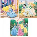 Ravensburger-09411 3 Puzzles - Les Princesses Disney