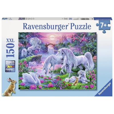 Ravensburger-10021 Pièces XXL - Licornes au Coucher du Soleil