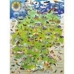 Ravensburger-10049 Pièces XXL - Carte de l'Allemagne