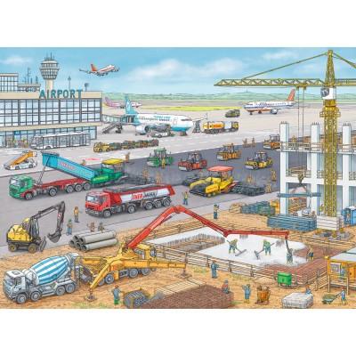 Ravensburger-10624 Chantier de Construction à l'Aéroport