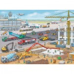 Ravensburger-10624 Chantier de Construction à l'Aéroport