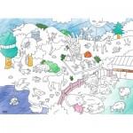 Ravensburger-10734 Color Puzzle - Animaux
