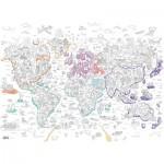 Ravensburger-10735 Color Puzzle - Atlas