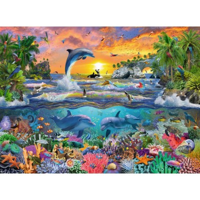 Ravensburger-10950 Pièces XXL - Paradis Tropical