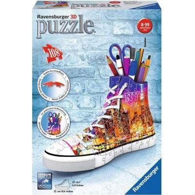 Ravensburger-11152 Puzzle 3D - Sneaker - Skyline