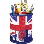 Ravensburger-11153 Puzzle 3D - Pot à Crayons - Union Jack