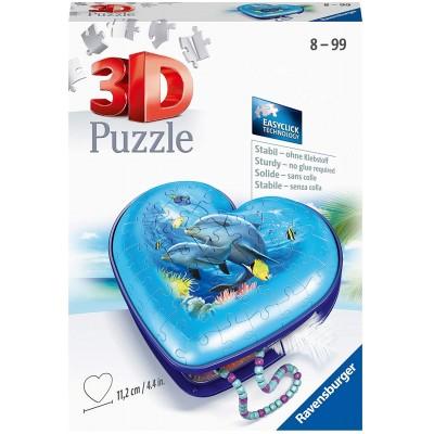Ravensburger-11172 Puzzle 3D - Boîte Coeur - Monde Sous-Marin
