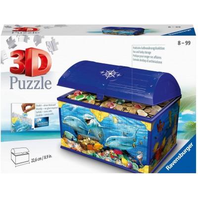 Ravensburger-11174 Puzzle 3D - Coffre au Trésor - Monde Sous-Marin