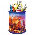 Ravensburger-11201 Puzzle 3D - Pot à Crayons - Skyline