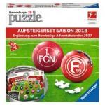 Ravensburger-11680 2 Puzzles 3D - Bundesliga 2018