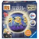 Ravensburger-11834 Puzzle 3D avec LED - Minions