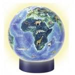 Ravensburger-11844 Puzzle Ball 3D avec LED - Le Monde en Anglais