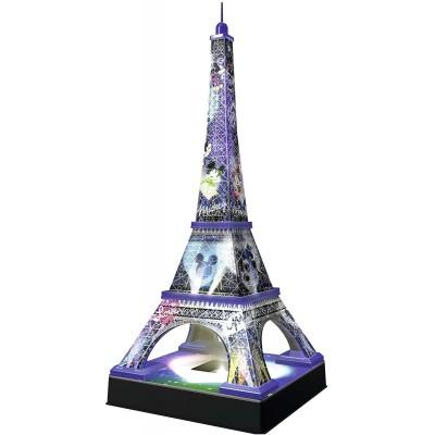 Ravensburger-12520 Puzzle 3D avec LED - Tour Eiffel Disney